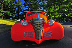 Hot rod street point of view Royalty Free Stock Images