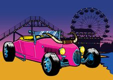 Hot Rod style car on the beach Stock Image