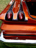 Hot Rod Tail Lights. Custom hot rod tail lights and colorful paint job stock images