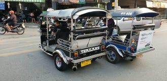 Hot Rod Taxis Tuk Tuk`s stock photography