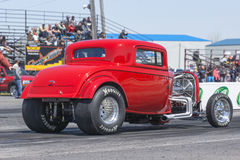 Hot rod on the track Royalty Free Stock Photos