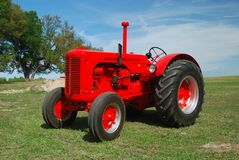 Hot Rod Tractor. A restored tractor used in tractor-pull contest Stock Images