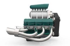 Hot rod V8 Engine 3D render Stock Images