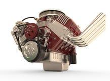 Hot rod V8 Engine 3D render Royalty Free Stock Image