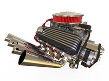 Hot rod V8 Engine 3D render Royalty Free Stock Images
