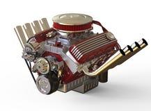 Hot rod V8 Engine 3D render Stock Photography