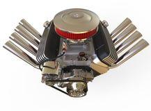 Hot rod V8 Engine 3D render Stock Image