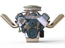 Hot rod V8 Engine 3D render Stock Photos