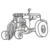 Hot rod. Vector illustration Royalty Free Stock Photo