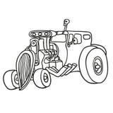 Hot rod. Vector illustration Royalty Free Stock Photo