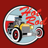 Hot rod vintage poster. Vector Royalty Free Stock Photos