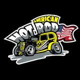 Hot rod, voitures faites sur commande américaines Calibre d'impression de T-shirt illustration de vecteur