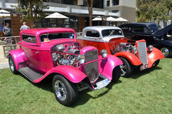 Hot Rods. Hot Rods at the Geelong Victoria Australia Revival Quarter Mile sprints. The Hot Rods were part of the 500+ displays scatted around the venue Stock Photography