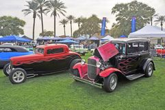 Hot Rods Built From Depression Era Cars stock images