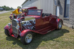 Hot rods. Picture of the hot rods during car show - custom cars Royalty Free Stock Photography