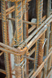 Hot rolled deformed steel bars a.k.a. steel reinforcement bar Stock Photography