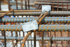Hot rolled deformed steel bars or steel reinforcement bar. Stock Image