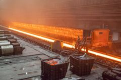 Hot rolled metal products Stock Photo