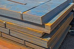 Hot-rolled sheet metal Stock Photography