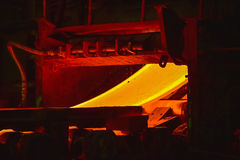 Hot-rolled steel process Royalty Free Stock Image