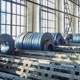 Hot rolled strip steel products Royalty Free Stock Photos