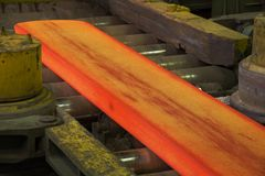 Hot rolling mill Royalty Free Stock Photos