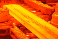Hot rolling mill Royalty Free Stock Images