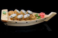 Hot rolls on boat Stock Photography