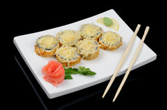 Hot rolls with cheese Royalty Free Stock Photo