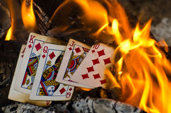 Hot Royal Flush Stock Image