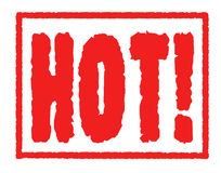 HOT! Rubber Stamp Image Royalty Free Stock Photos