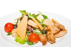 Hot salad with chicken Royalty Free Stock Photos