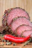 Hot salami Stock Photo