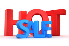 Hot sale. Text Hot sale on the white background Stock Images