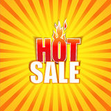 Hot Sale banner. Vector Illustration Royalty Free Stock Images