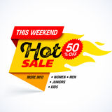 Hot Sale banner Stock Photo