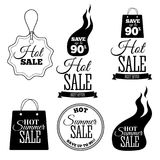 Hot Sale banners. This weekend only special offer template, vector illustration. Hot Sale signs set. This weekend only special offer template, vector Royalty Free Stock Image