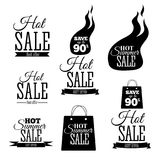 Hot Sale banners. This weekend only special offer template, vector illustration. Hot Sale signs set. This weekend only special offer template, vector Royalty Free Stock Photography