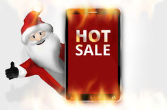 Hot Sale Christmas Red Mobile Phone Royalty Free Stock Photo