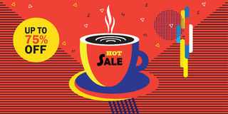 Hot Sale coffee cup Royalty Free Stock Image