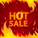 Hot sale design template. Frame of fire Royalty Free Stock Photos