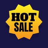 Hot sale discount banner on white background. vector illustratio Royalty Free Stock Image