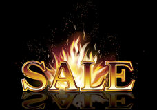 Hot sale fire banner, vector. Illustration Stock Image