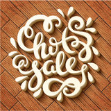 Hot sale hand drawn lettering. Vector illustration Royalty Free Stock Photos