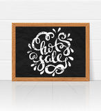 Hot sale hand drawn lettering. Vector illustration Stock Image