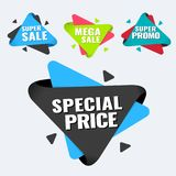 Special offer, up to 75 off, vector illustration. Hot Sale and Hot Deal banners, special offer, up to 75 off, vector illustration text,  vector,  vibrant Royalty Free Stock Images