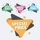 Special offer, up to 75 off, vector illustration. Hot Sale and Hot Deal banners, special offer, up to 75 off, vector illustration text,  vector,  vibrant Royalty Free Stock Image