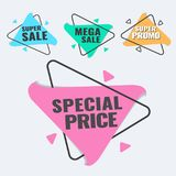Special offer, up to 75 off, vector illustration. Hot Sale and Hot Deal banners, special offer, up to 75 off, vector illustration text,  vector,  vibrant Royalty Free Stock Photography