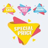 Special offer, up to 75 off, vector illustration. Hot Sale and Hot Deal banners, special offer, up to 75 off, vector illustration text,  vector,  vibrant Stock Photography