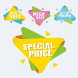 Special offer, up to 75 off, vector illustration. Hot Sale and Hot Deal banners, special offer, up to 75 off, vector illustration text,  vector,  vibrant Stock Images